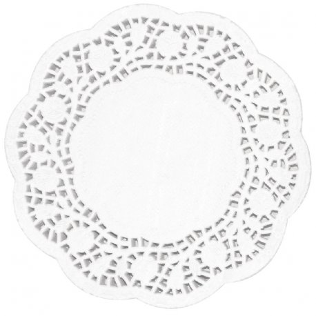 Fiesta Round Paper Doilies 100mm (Pack of 250)