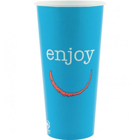 Huhtamaki Enjoy Paper Cold Cups 625ml / 22oz (Pack of 1000)