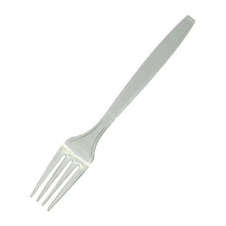Fiesta Heavy Duty Disposable Plastic Forks Clear (Pack of 100)