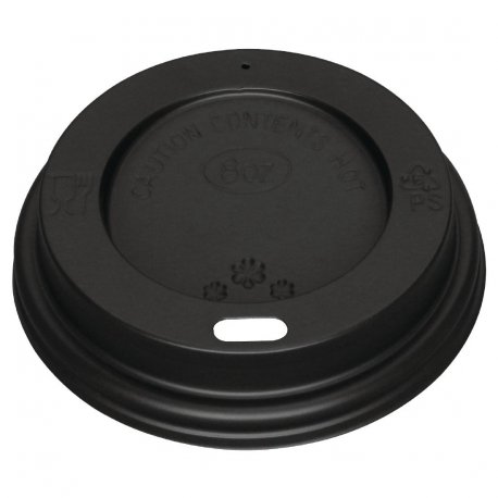 Black Lid for Fiesta 225ml / 8oz Coffee Cups x 50 (Pack of 50)