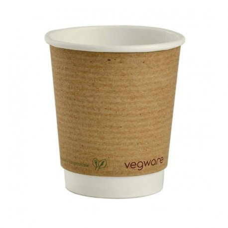 Vegware Compostable Hot Cups 230ml / 8oz (Pack of 500)