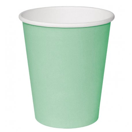 Fiesta Single Wall Takeaway Coffee Cups Turquoise 340ml / 12oz x 1000 (Pack of 1000)