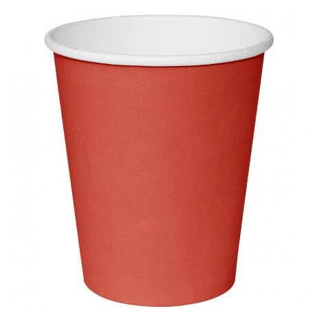 Fiesta Single Wall Takeaway Coffee Cups Red 340ml / 12oz x 1000 (Pack of 1000)