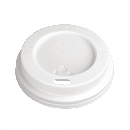 Disposable Lids For 225ml Fiesta Hot Cups x 1000 (Pack of 1000)