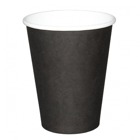 Fiesta Single Wall Takeaway Coffee Cups Black 340ml / 12oz x 50 (Pack of 50)