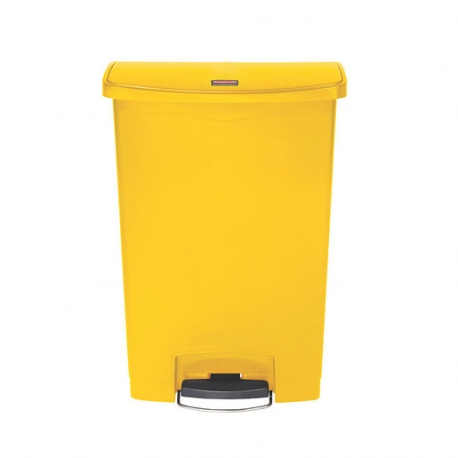 Slim Step-On Bin Front Step 90 ltr Yellow (Sold Singly)