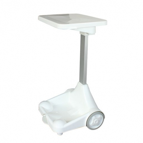 Plastic Sack Holder With Wheels White Lid (Sold Singly)