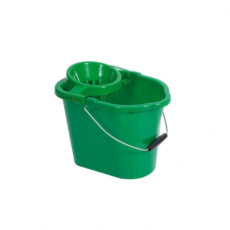 Mop Bucket With Wringer Green 12ltr (Sold Singly)