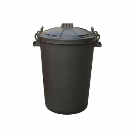Stacking Bin With Clip On Lid Black 85ltr (Sold Singly)