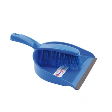 Dustpan And Brush Set Stiff Brush Blue (Sold Singly)
