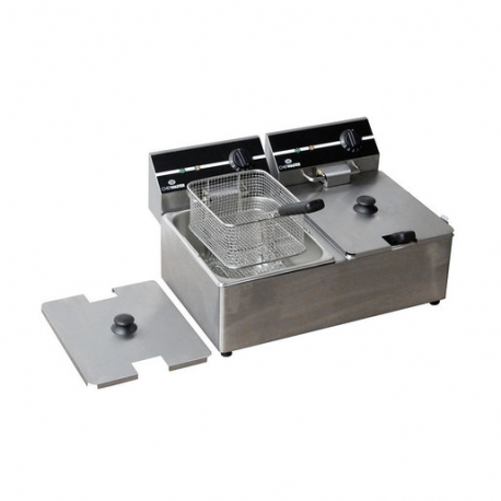 Chefmaster Countertop 2x6L Elec Fryer Twin Tank (Sold Singly)