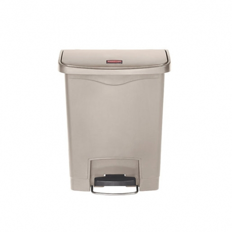 Slim Step-On Bin Front Step 30 ltr Beige (Sold Singly)