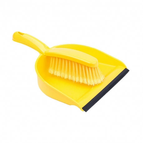 Dustpan And Brush Set Soft Brush Yellow (Sold Singly)