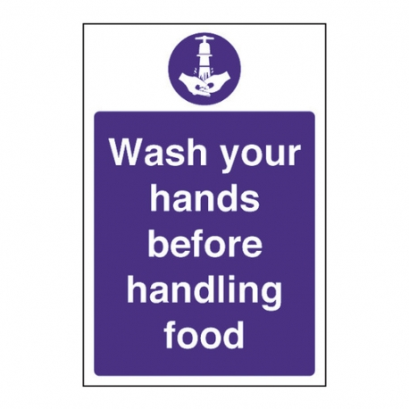 Wash Hands Before Handling Food (Sold Singly)
