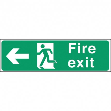 Safety Sign Fire Exit Left Arrow (Sold Singly)