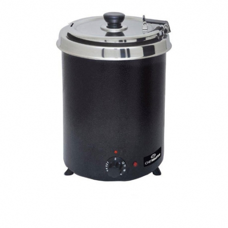 Chefmaster 6Ltr Soup Kettle - Black (Sold Singly)