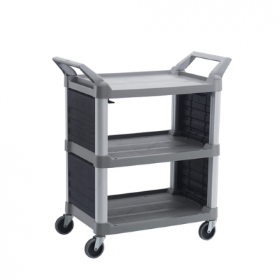 Utility Service Cart Platinum Solid End (Sold Singly)