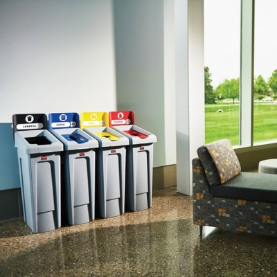 87 Litre Recycling Bins 3 Stream Bundle (Sold Singly)