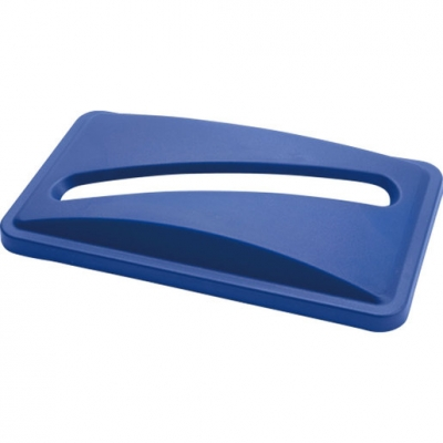 Paper Recycling Lid for Svelte Containers, Blue (Sold Singly)