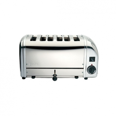 Dualit 61019 6 Slot Bun Toaster - Polished (Sold Singly)