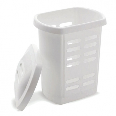Laundry Hamper White 60L (Sold Singly)