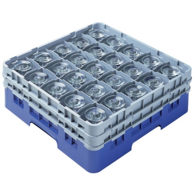 Cambro Camrack Glass Rack 25 Compartments Grey (Sold Singly)
