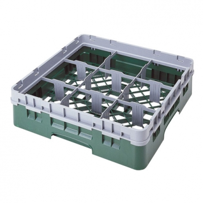 Cambro Camrack Glass Rack 9 Compartments Grey (Sold Singly)