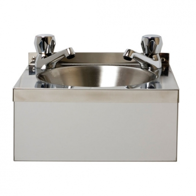 BaSix WS2-D Wash Hand Station w.Dome Taps 305mm (Sold Singly)