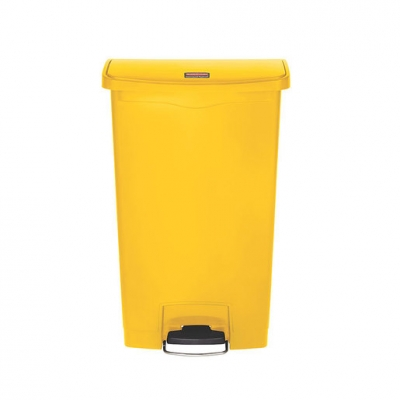 Slim Step-On Bin Front Step 68 ltr Yellow (Sold Singly)