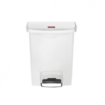 Slim Step-On Bin Front Step 30 ltr White (Sold Singly)