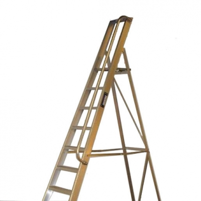 Step Ladder 9 Tread with Hand Rail (on right) (Sold Singly)