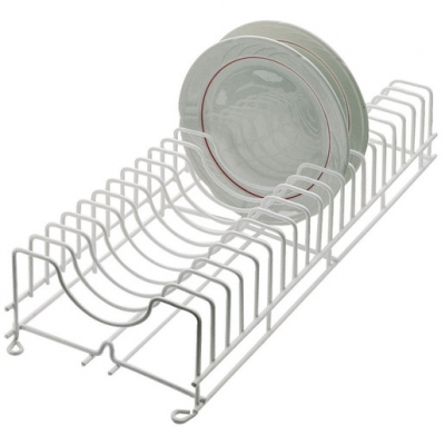 Plate Rack Plastic Coated Wire Holds 30 Plates (Sold Singly)