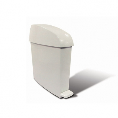 Sanitary Polypropylene Waste Bin White 12 litre (Sold Singly)