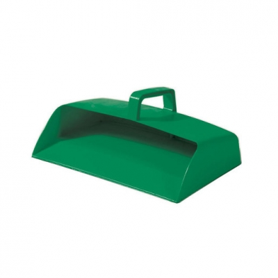Dustpan Enclosed Green Plastic (Sold Singly)