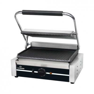 Chefmaster Large Panini Contact Grill - Ribbed
