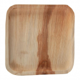 Fiesta Green Biodegradable Palm Leaf Square Plates 250mm (Pack of 100)