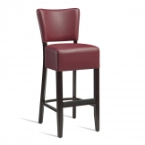 Club Bar Stool - Wenge - Red