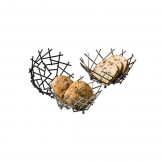 American Metalcraft Basket Thatch Round Copper 8x3-5/8 Inch