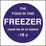 Kitchen Food Safety Food Temperature - Freezer (Sold Singly)