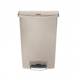 Slim Step-On Bin Front Step 90 ltr Beige (Sold Singly)