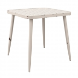 Cafe 4 Leg Table - Vintage White - 75x75cm