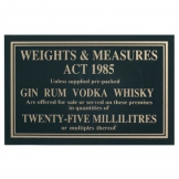 Sign - Weights & Measure 25ml (Sold Singly)