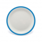 Duo Plate Narrow Rim Blue 23cm Polycarbonate (Sold Singly)