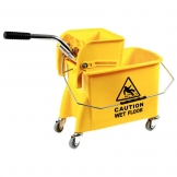 Mop Bucket & Wringer Yellow 20ltr (Sold Singly)