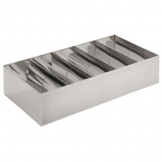 Cutlery Box Stainless Steel 5 Compartments (Sold Singly)
