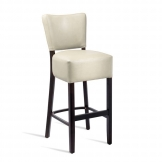 Club Bar Stool - Wenge - Cream