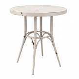 Cafe 4 Leg Table - Vintage White - 75cm Dia