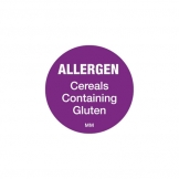 Cereal Allergen Label Roll 2.5cm Dia (1000 pcs)