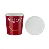 12oz Enjoy Food container c/w Lid 250 Per Case
