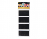 Rectangle Shaped Chalkboard Vinyl Stickers. Pack of 8 | AB158